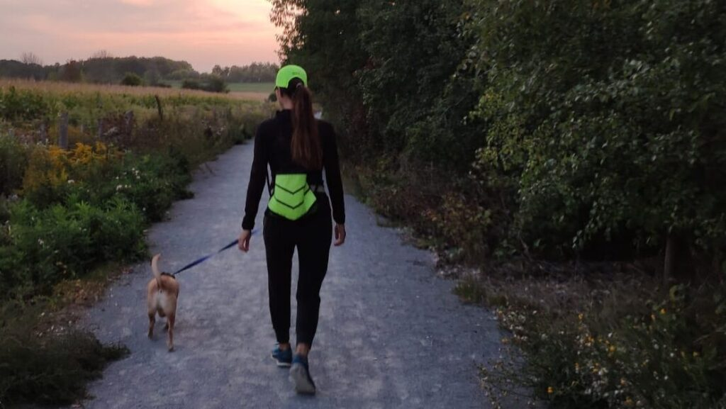 Juliann Ng walking to stay healthy during Covid-19